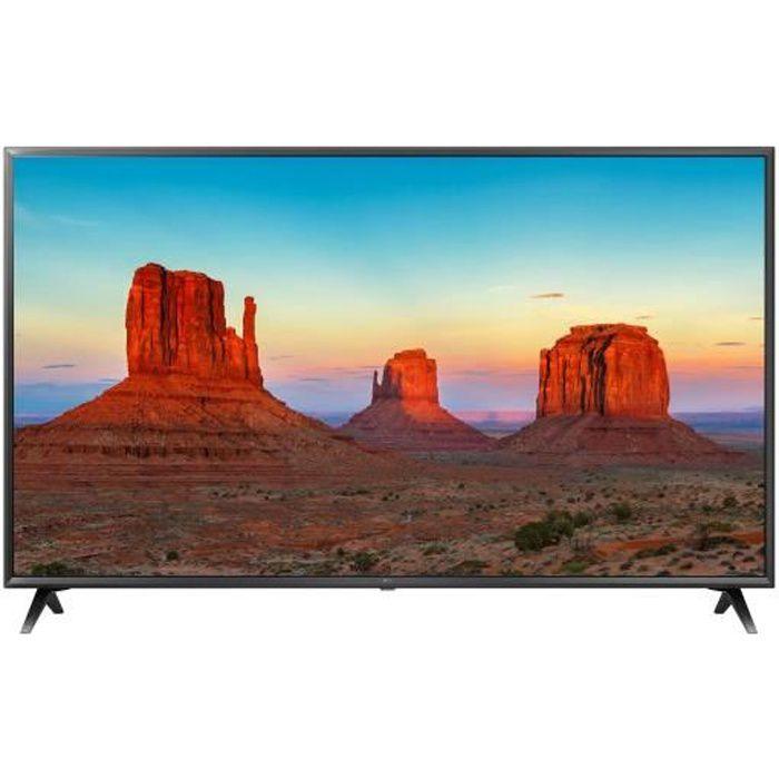 LG 50UK6300 TV LED 4K UHD - 50'' (126cm) - Son Ultra Surround - 4K HDR - Smart TV - 3 x HDMI - 2 x USB - Classe énergétique A