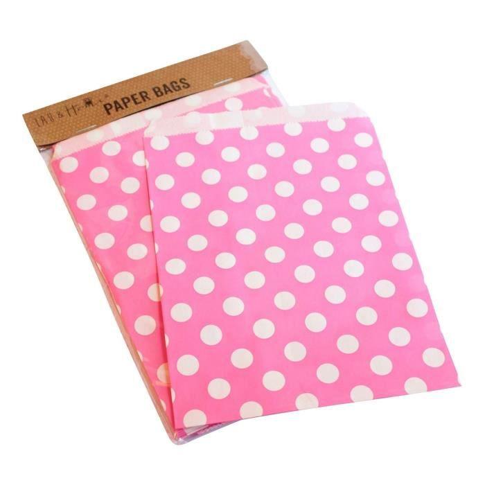 25 sac papier f te dots tendre bonbon cadeau 13x18cm pour anniversaire mar achat vente. Black Bedroom Furniture Sets. Home Design Ideas