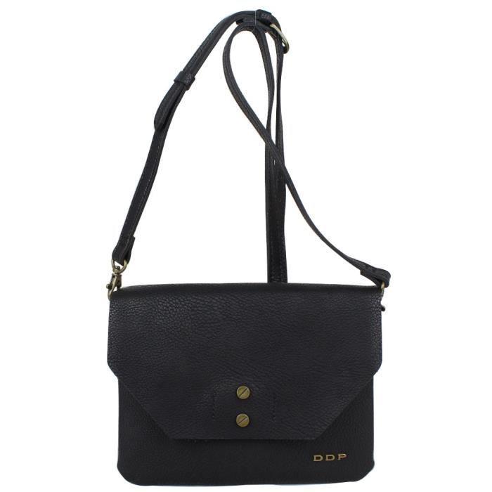 4c23081338 Petit sac pochette bandoulière imitation cuir DDP PCRECVOG (Noir ...