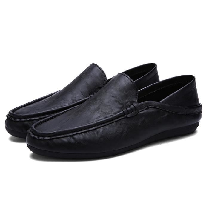Chaussures De Bateau De Mode Homme Respirant De Mocassins Designer Plat En Cuir Souple Chaussures De Luxe Marque Ventes Chaudes