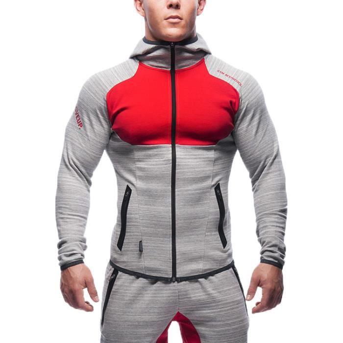 profiter de prix pas cher choisissez le dégagement Nouveaux produits Sweat a Capuche Marque Automne Coton Sport Gym...