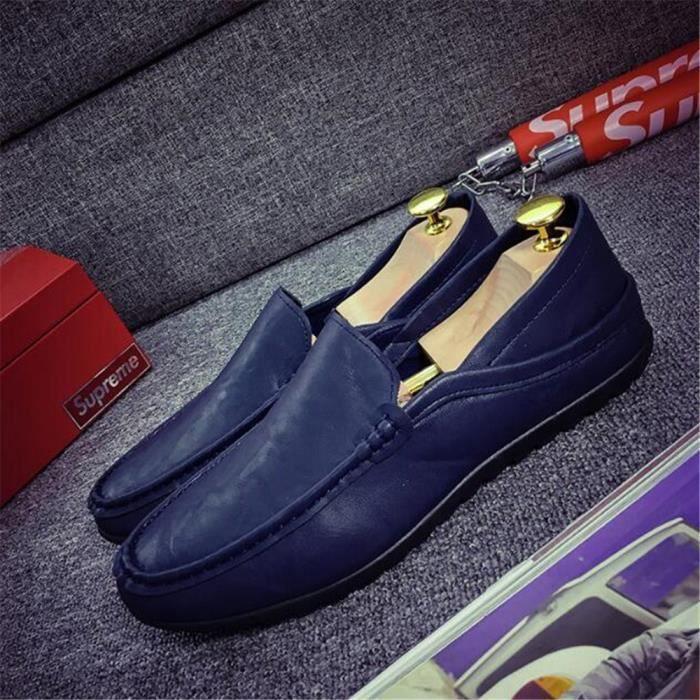 Moccasin homme De Marque De Luxe 2017 ete En Cuir Travail à la main Qualité Supérieure chaussure Antidérapant Grande Taille