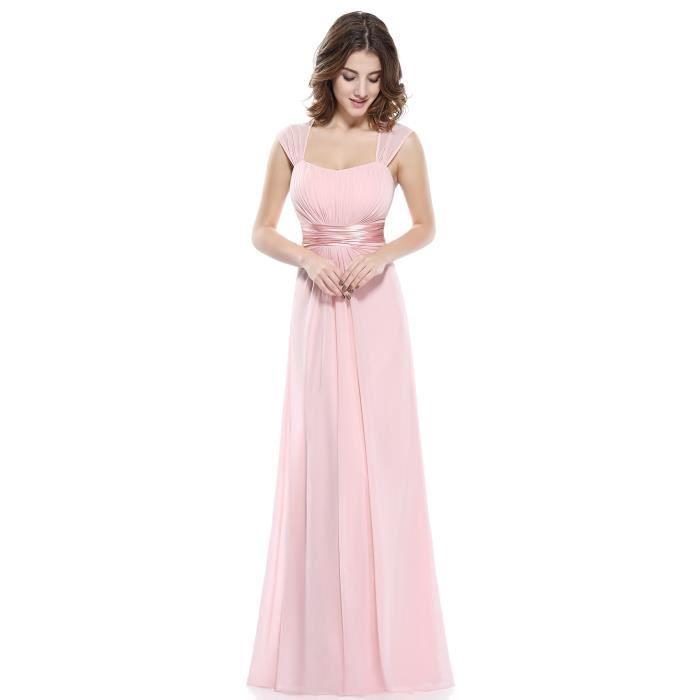c61a54335cd Robe demoiselle d honneur longue de mariage mancheron en mousseline ...