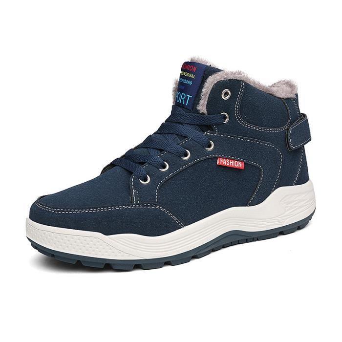 Chaussures Hommes Coton Hiver Bottes Anti-dérapant épais Neige Bottes GOCduxhqb