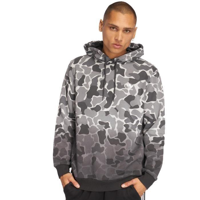 dc3c0ea6d2eaf Adidas originals Homme Hauts / Sweat capuche Camo Gris Gris - Achat ...