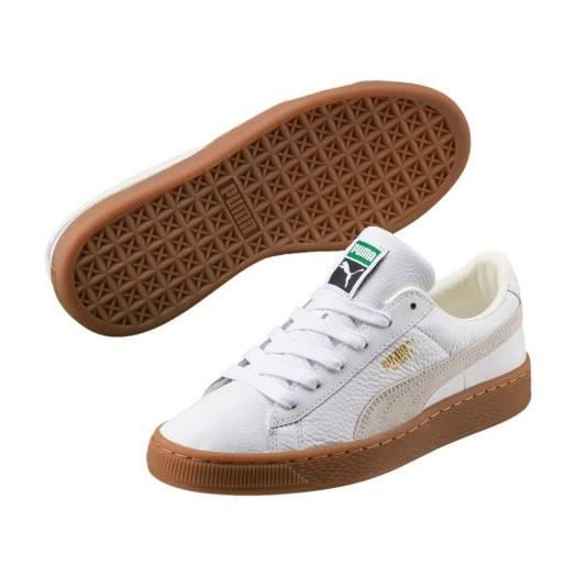 Chaussures avec semelle gum deluxe JR BASKET 37 Blanc