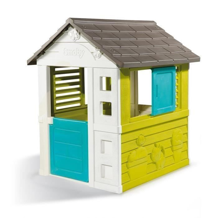 smoby maison pretty toboggan xs achat vente. Black Bedroom Furniture Sets. Home Design Ideas