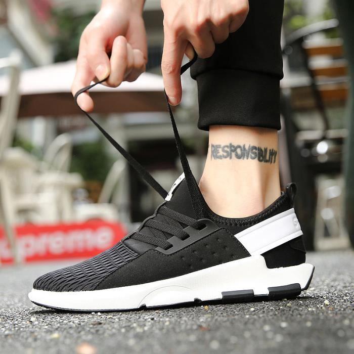 La mode masculine casual chaussures confortables baskets chaussures de course sneaker