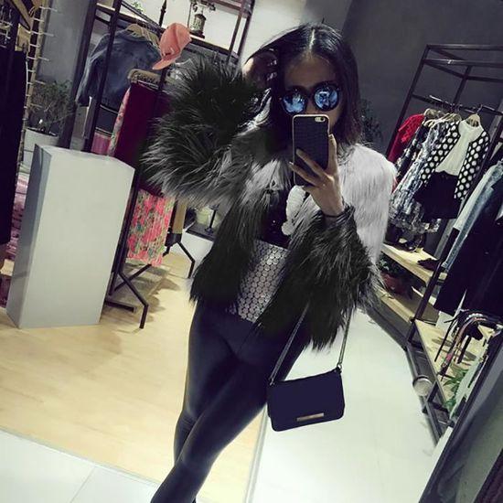 Parka Veste Manteau Femmes Manteaux Femme Xjb80907813l Noir D'hiver Artificielle q6RC4