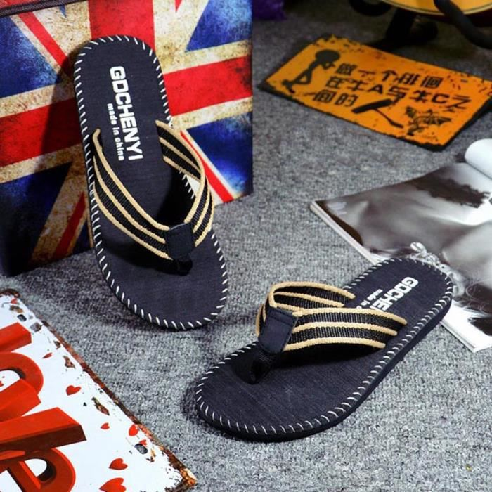 Hommes d'été tongs chaussures sandales pantoufles pantoufles mâles vtVRtdFPU