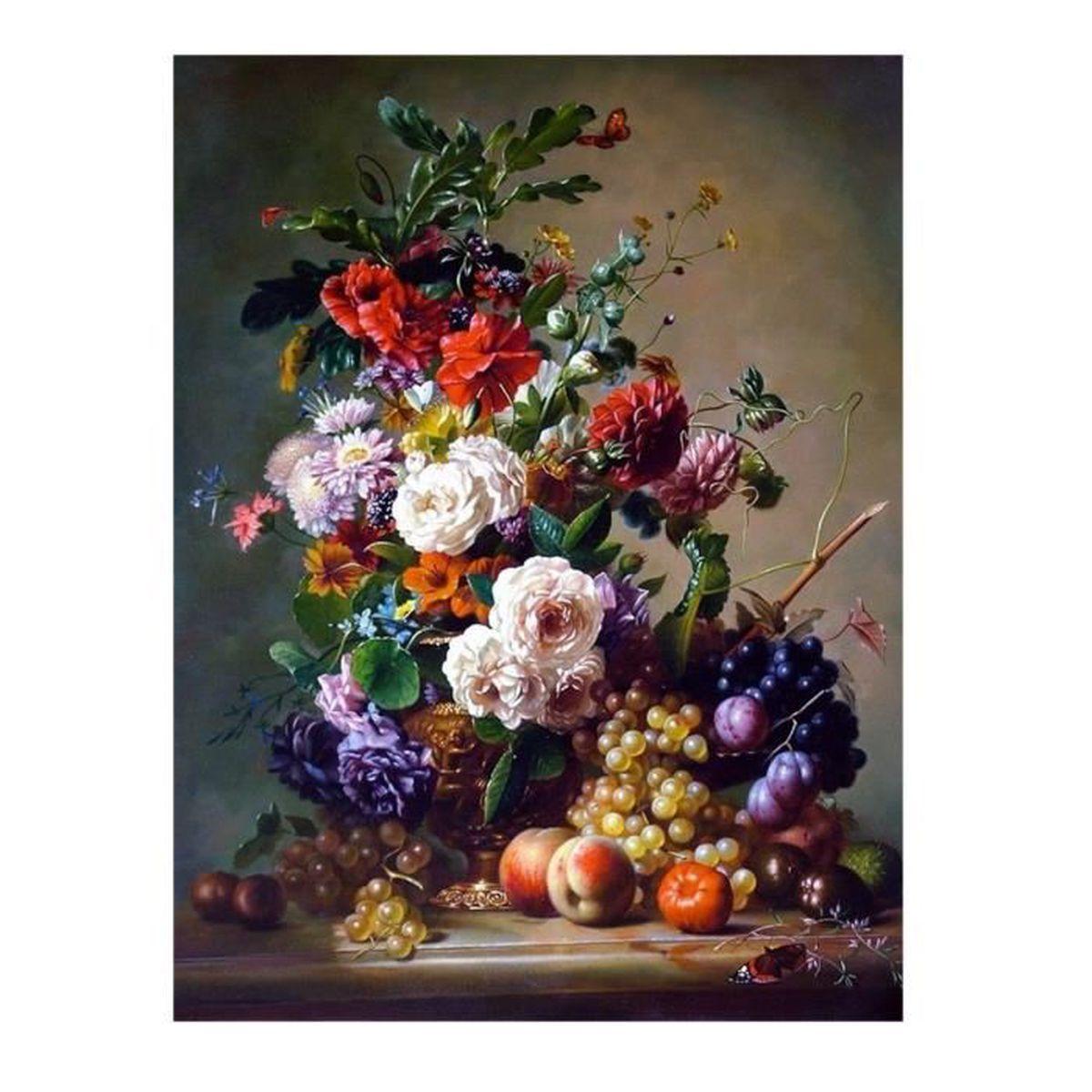 Tableau toile bouquet de fleurs achat vente tableau for Achat de fleurs