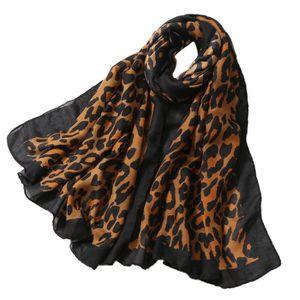 ECHARPE - FOULARD Foulard léopard noir et blanc LSP81008328D 118 796dd4259a0