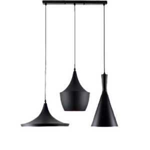 Suspension 3 lampes noire achat vente suspension 3 for Plafonnier style industriel
