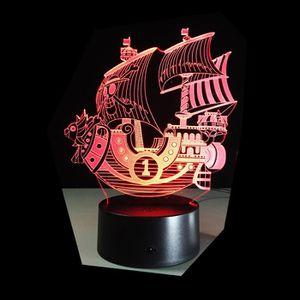OBJETS LUMINEUX DÉCO  3D Nuit Lumière Lampe Acrylique Coloré ONE PIECE T