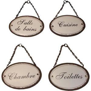 Plaque De Porte Toilettes Chambre Salle De Bain Achat Vente - Plaques de porte décoratives