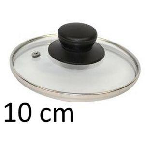 COUVERCLE PETIT COUVERCLE DE CASSEROLE 10 CM VERRE INOX USTE