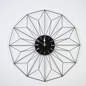 HORLOGE - PENDULE FIL Horloge murale design métal Ø48 cm noir