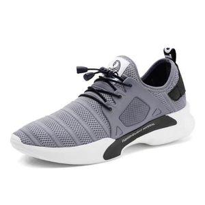Homme Baskets Sport Chaussures de tissu Casual Respirante Chaussures - Gris ZiAytPJWh