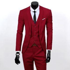 Veste costume rouge bordeaux