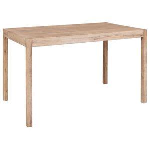 TABLE À MANGER SEULE Table De Salle à Manger 120x70x75 Cm Bois Du0027acacia