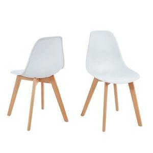 CHAISE Lot de 2 chaises scandinaves coloris blanches en p