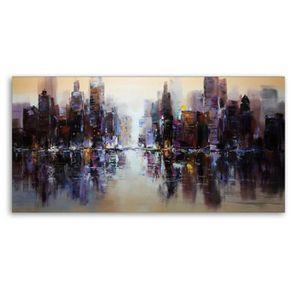 TABLEAU - TOILE TEMPSA Peinture A Huile Impressionniste Sans Cadre