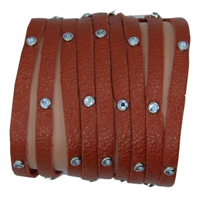 Femmes multi Strand Bracelet en cuir LG14N
