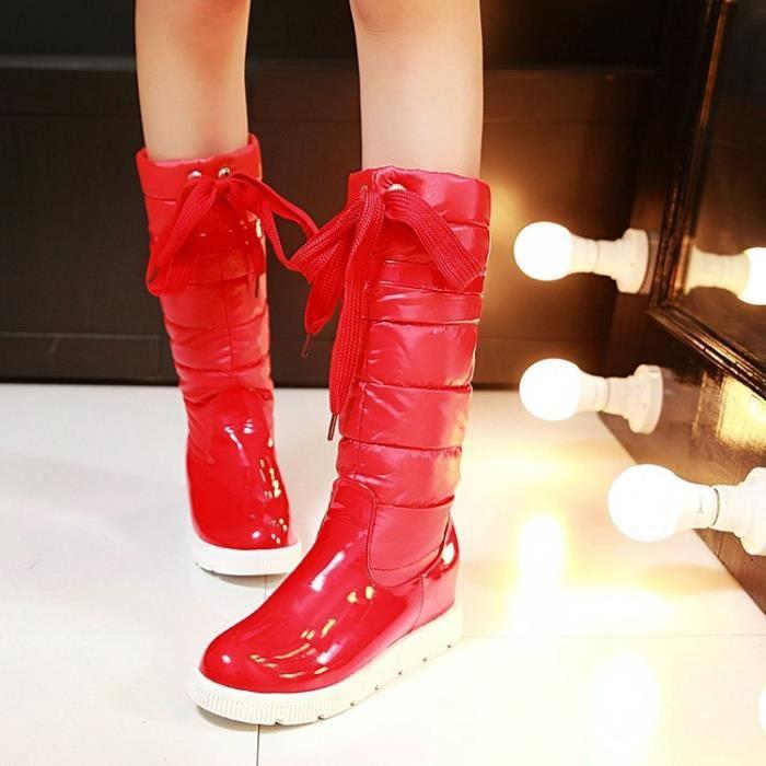 martin boots-Pure Color talon plat de la femme ...