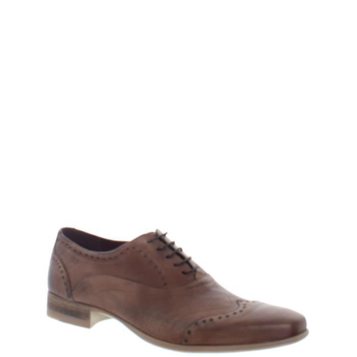 Chaussure de ville en cuir cle ziche Redskins ref_cle34637-cognac p5sdSX10i