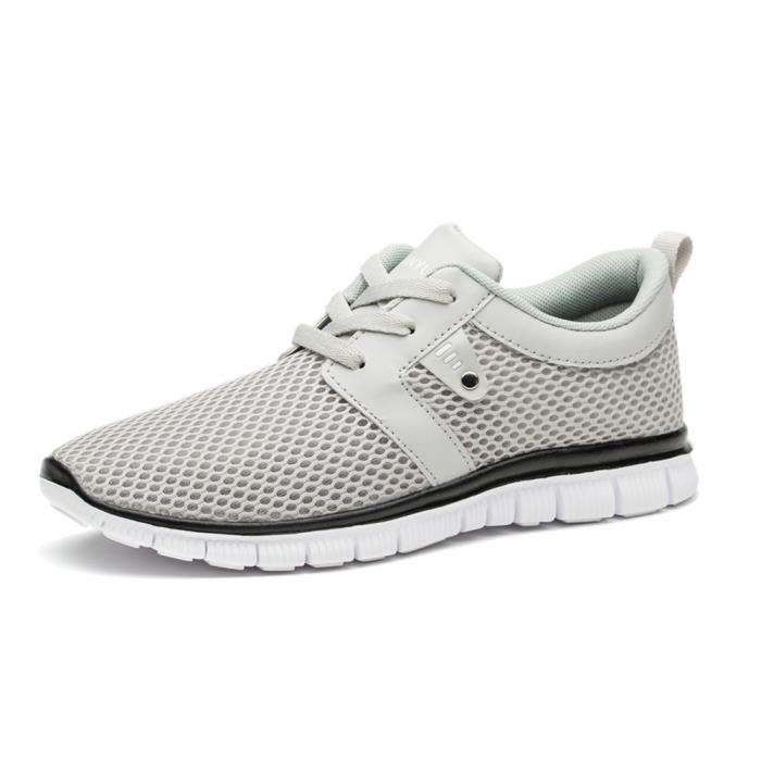 décontractées Basket hommes Respirant Les chaussure de loisirs Confortable Chaussures de filet Nouvelle Mode G dssx266blanc47 PNy4DHkPW
