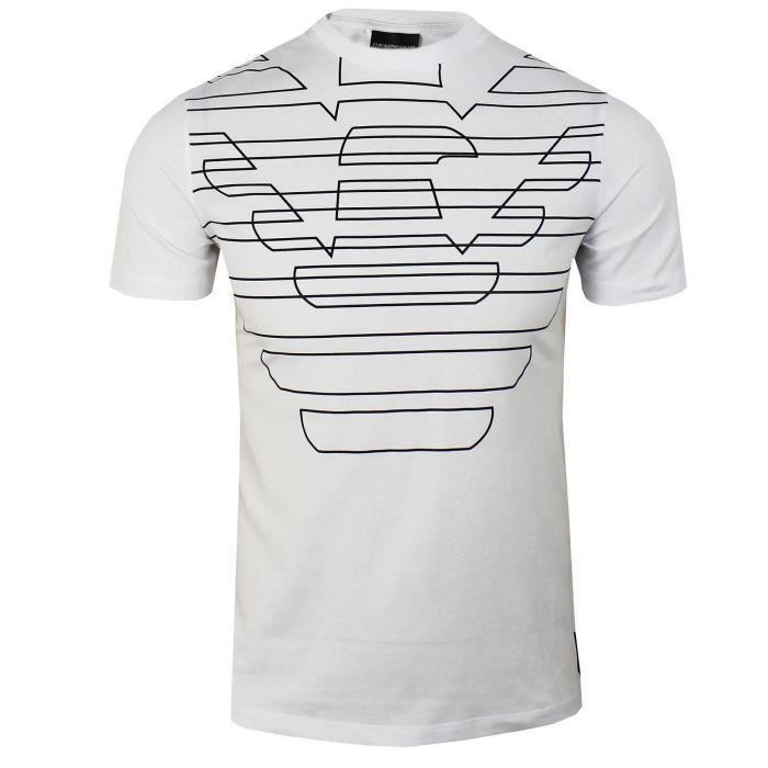 1994cf8c185 T shirt homme armani blanc - Achat   Vente pas cher