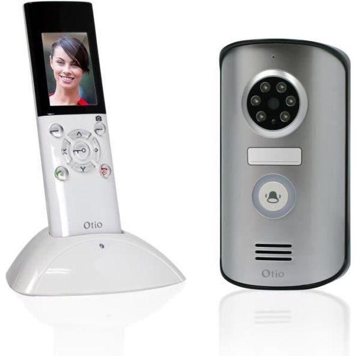 otio visiophone sans fil portatif écran lcd 2,3 pouces avec