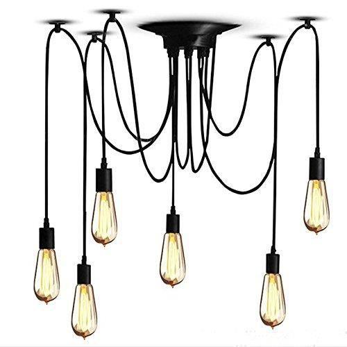 Lustre DIY plafond lampe suspendue lumière avec 6 têtes pour maison ...