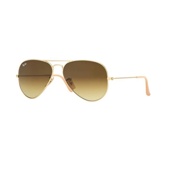 Lunettes de soleil Ray-Ban Homme AVIATOR LARGE METAL RB3025 112 85 Or 58 x  50,1 8f5ef4ecbecc
