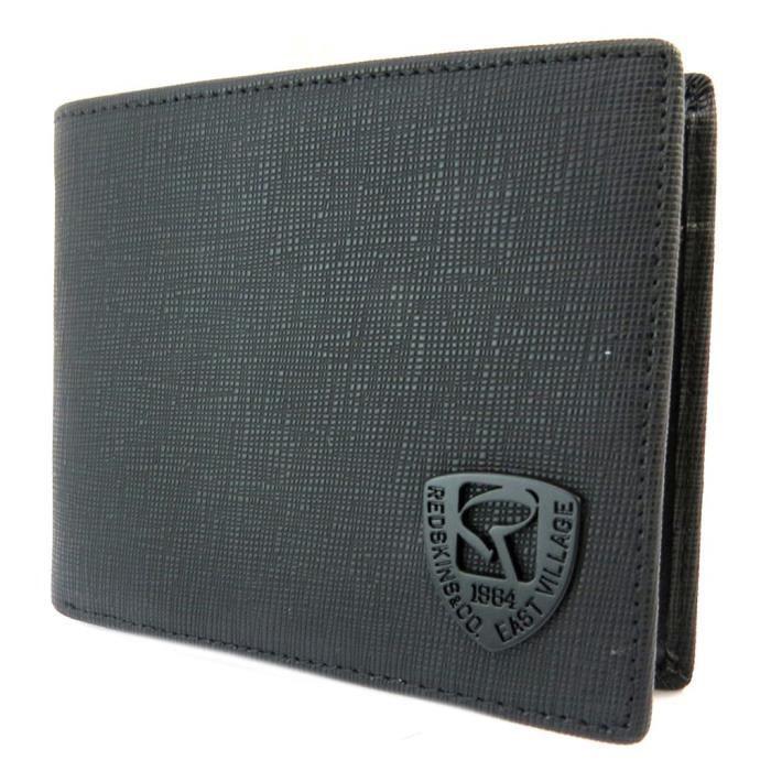 Portefeuille italien  Redskins  noir - 11x9x1.5 cm  P3406  Noir noir ... eb2f5b84308