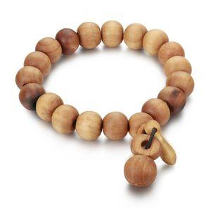 Bracelet boule en bois pour homme