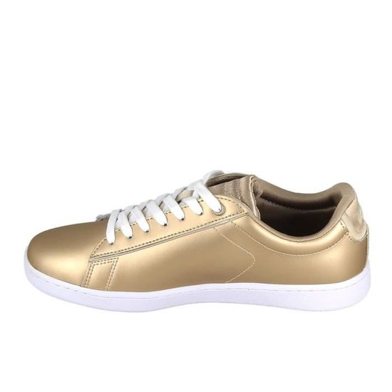 Basket -mode - Sneakers Blanc LACOSTE Carnaby Evo Or Blanc Sneakers Blanc Or - Achat / Vente basket 5d68c2
