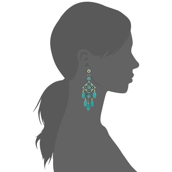 Miguel Ases Prehnite And Green Quartz Chandelier Drop Earrings Z0E5G