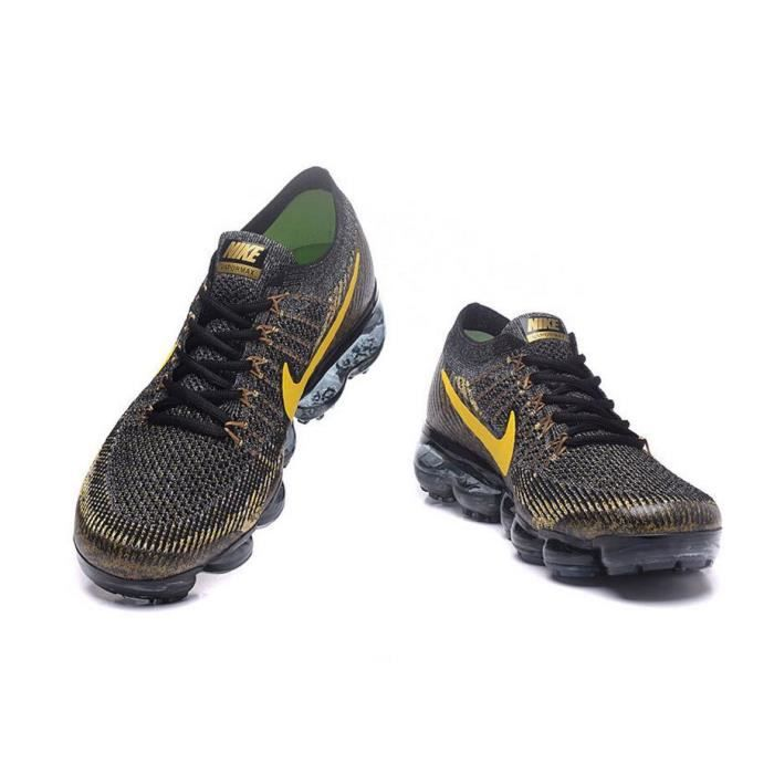 finest selection ed071 f65bc Basket Nike Flyknit Air Vapormax Sports de Homme Chaussures L or noir  tpprwR ...