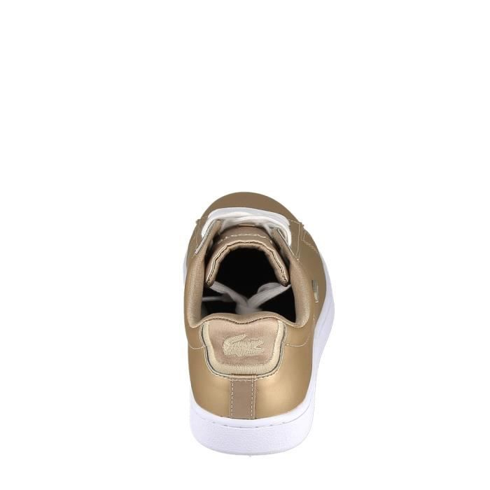 Basket -mode - Sneakers LACOSTE Carnaby Evo Or Blanc
