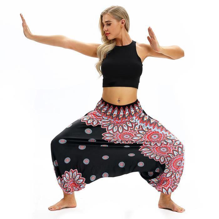Femmes Jumpsuit Noir Vrac Summer Aladdin Casual Lrr80724614bk Sarouel Boho En Pantalon De Baggy Yoga grgFqv