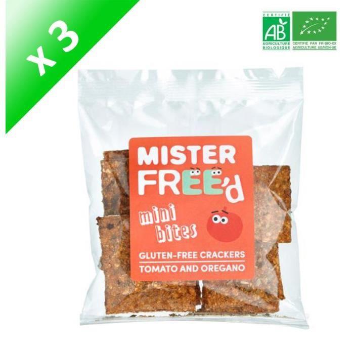 Crackers à la Tomate Sans gluten Bio - 220 g x3