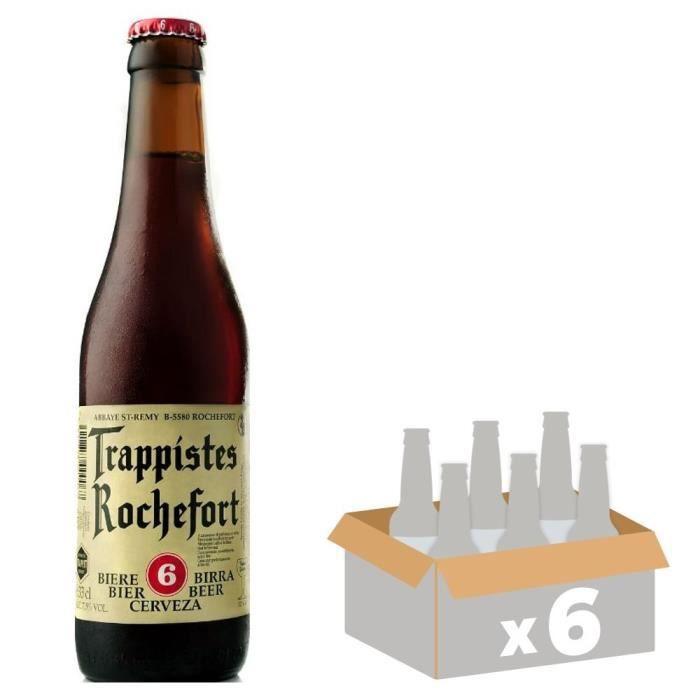 BRASSERIE ROCHEFORT 6 Belgian Strong Ale Bière Brune - 33 cl x6 - 7,5 %