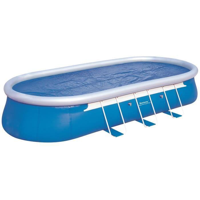 BESTWAY Bâche solaire pour Fast Set Pools ovale 732x366x122cm - 682x311cm