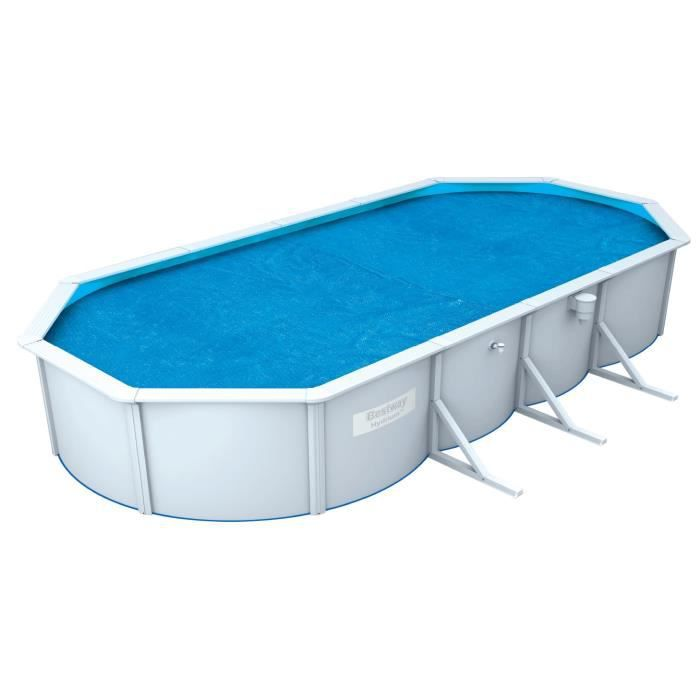 BESTWAY Bâche solaire pour Steel Wall Pool ovale 610x360x120cm - 600x350cm