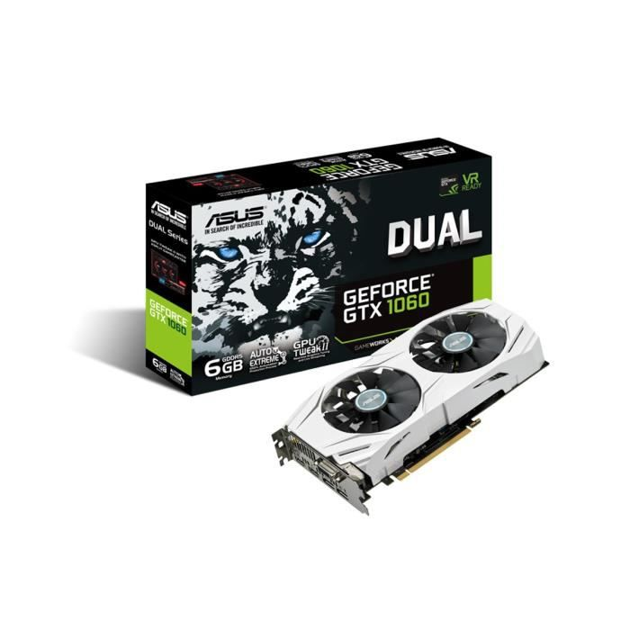 Asus Carte graphique GeForce® GTX 1060 DUAL 6G 6Go GDDR5