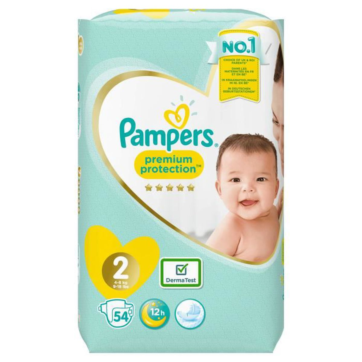 Pampers New Baby Taille 2 3 à 6 Kg 54 Couches Achat Vente