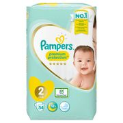 COUCHE PAMPERS New Baby Taille 2 - 3 à 6 kg - 54 couches