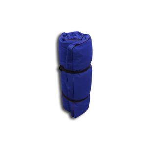 FUTON Futon Portable Bleu, 200x80x4 cm