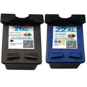 CARTOUCHE IMPRIMANTE 2pk Cartouches rechargeables pour HP 21 22 21XL 22